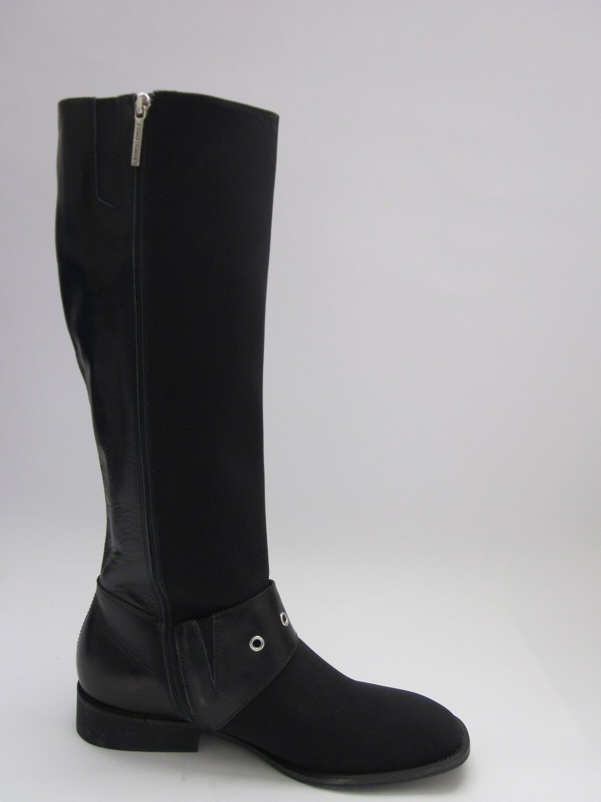 Donald J. Pliner Gale Knee-High Boots Black Black Black Crepe Elastic Women's 6 6c0a55