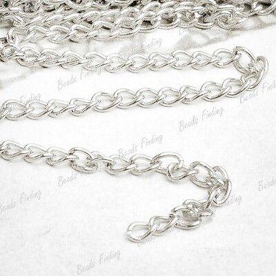 DIY Hot 4/12/20m DIY fashion Curb Chains Unfinished Link fit Bracelet Necklace