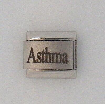 Asthma Laser Medical Alert for Italian Charm Bracelets Free Medical ID Card