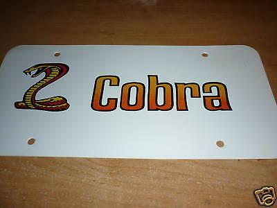 FORD MUSTANG SVT COBRA SHELBY COBRA FAIRLANE TORINO SNAKE LICENSE PLATE BLK//SILV