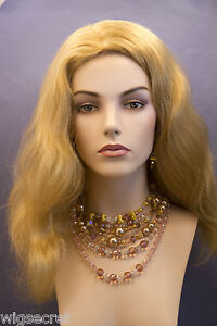 Champagne-Blonde-Blonde-Long-Human-Hair-Skin-Top-Wavy-Straight-Wigs