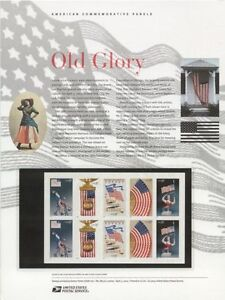 683-37c-Old-Glory-Booklet-3776-3780-USPS-Commemorative-Stamp-Panel