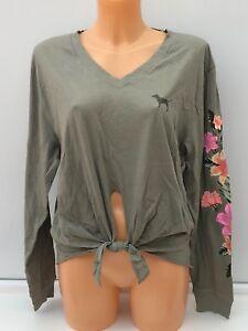 Graphique Longues Xs S Secret Rose shirt M Tailles Victoria's Tee Vert À Manches En YRgwApxUF