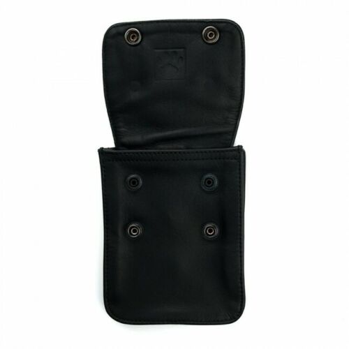 CLIP TO BELT OR BICEP BAND Prowler RED Leather Wallet Black