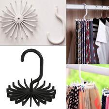 Afazfa Rotating Adjustable Tie Hanger Holds 20 Neck Ties Tie Organizer for Men Black Tie Rack