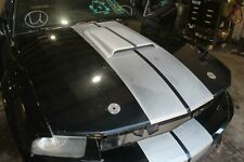 07 09 Mustang Shelby Gt Black Hood Aftermarket Scoop Withhood Pin Holes Amp Stripes Fits Mustang