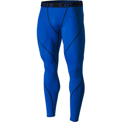 Temperate Tsla Tesla Mup19 Cool Dry Baselayer Compression Pants Activewear Tops Blue/black Activewear