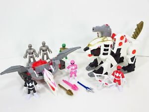 Power-Rangers-White-Ranger-Tiger-Zord-Putty-Patrol-Figures-Lot-Imaginext-Lot
