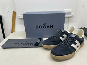 Hogan H357 Monogram Patch Sneakers - Navy - US Size 9.5