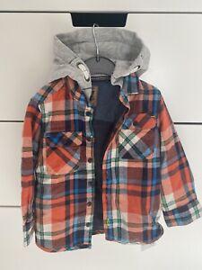 Brand New Next Boys Hooded Shirt Jacket Size 18-24 Months