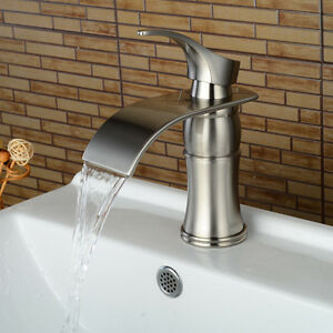 7 waterfall bathroom faucet chrome brushed nickel oil - Oil brushed bronze bathroom faucets ...