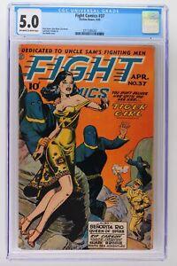 Fight Comics #37 - Fiction House 1945 - CGC 5.0!