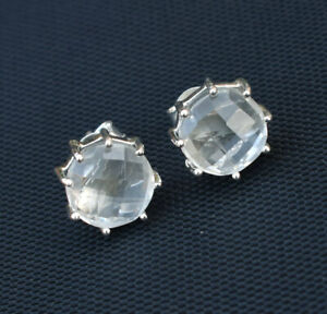 Natural-Crystal-Quartz-Stud-Earrings-925-Sterling-Silver-Clear-Quartz-Studs-S096