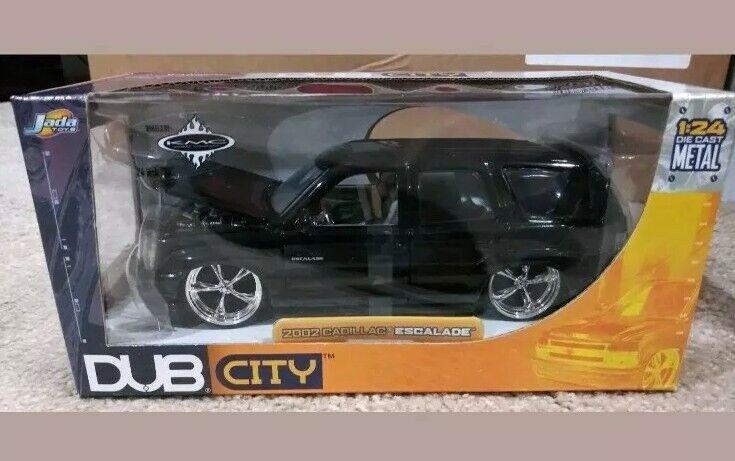 2002 Cadillac Escalade  Diecast Voiture Modèle-Jada DUB CITY 1 24 RARE noir brillant  produit de qualité d'approvisionnement