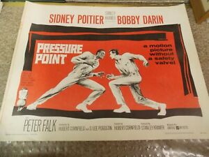 """PRESSURE POINT(1962)BOBBY DARIN ORIGINAL 1/2 SHEET POSTER 22""""BY28"""""""
