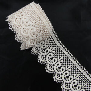 3-Yards-Polyester-Tan-Applique-Venise-Lace-Craft-Embellishments-Sewing-Trims