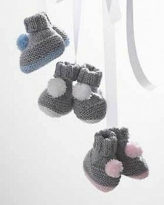 baby pom pom botties knitting pattern
