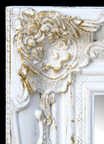 Espejo de pared blanco//oro espejo frisierspiel pasillo espejo espejo Shabby Look