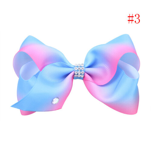Large Hair Bow Rainbow Bowknot Dance KidsHair Clip Hair Accessories for Girl