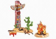 Playmobil Add On 6431 Totem Pole With Fireplace - New, Sealed