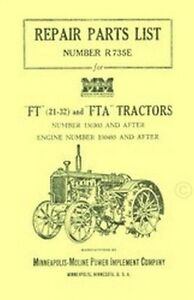 Minneapolis-Moline-Model-FT-21-32-and-FTA-Tractor-Parts-Manual-Ser-150303-up