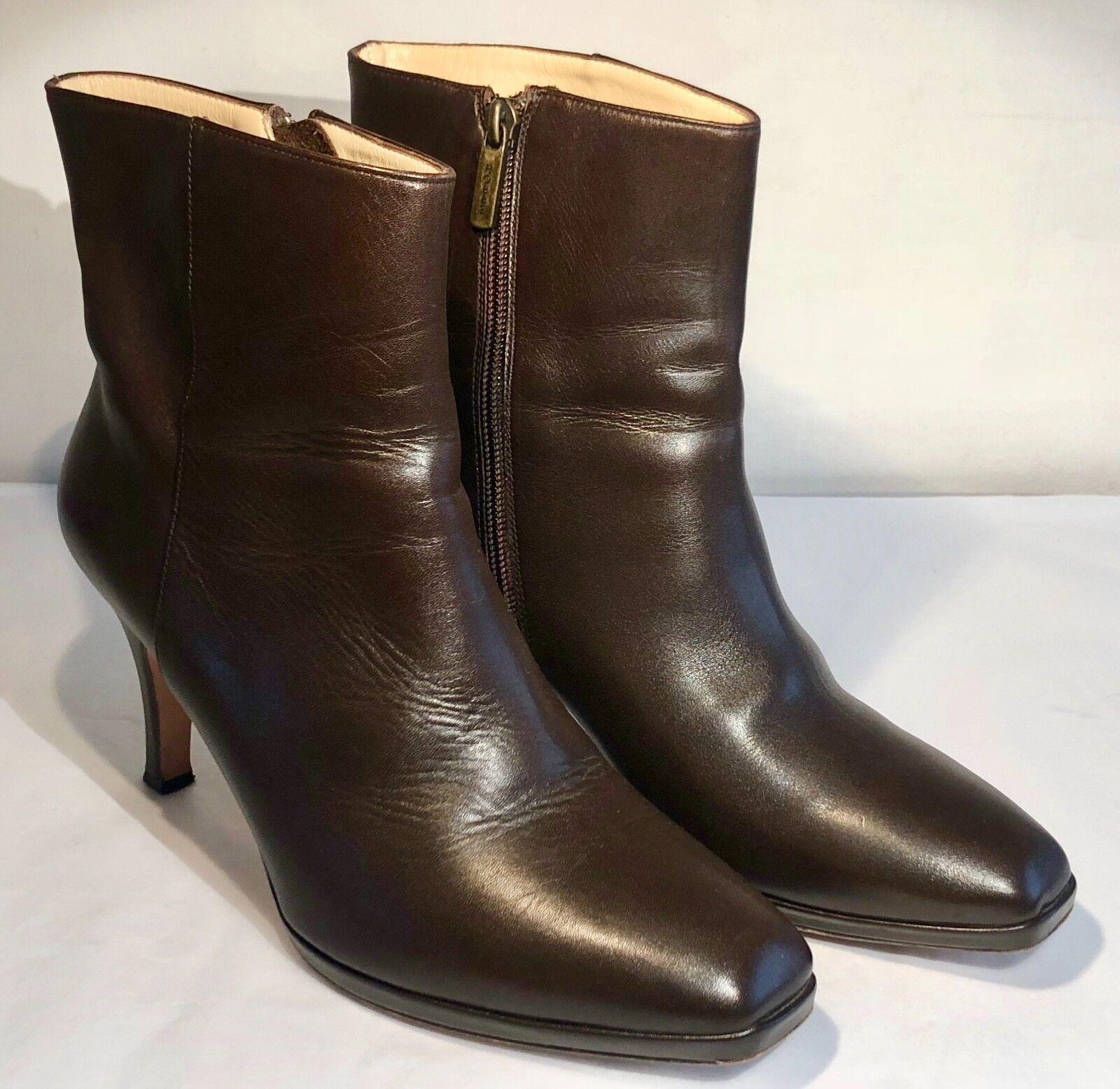 Hobbs Chocolate Marrón Cuero Tobillo botas Talla 41 41 Talla 7 pre Amado 8bff2a
