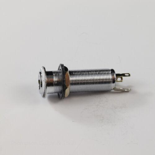 Chrome Long Thread Barrel Stereo Input Jack