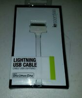 Iessentials (iplh5-fdc-wt) Flat Lightning Usb Cable For Iphone, Ipad, Ipod