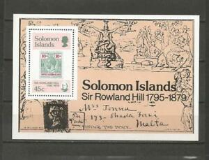 SOLOMON-IS-1979-100th-Anniv-of-the-Death-of-Sir-Rowland-Hill-MUH-MIN-SHEET