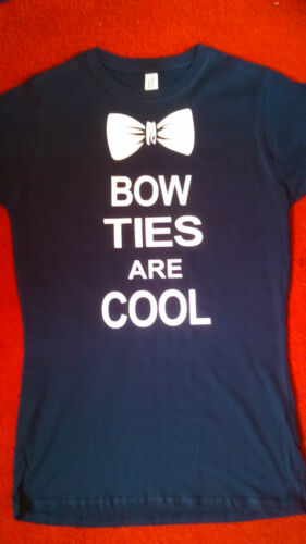 DR WHO INSPIRED BOW TIES ARE COOL WOMENS T SHIRT BRAND NEW