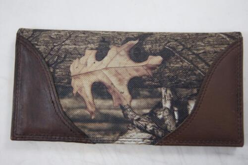 ZEP-PRO SHOTGUN SHELL Leather /& Nylon MOSSY OAK Camo Wallet BURLAP GIFT BAG