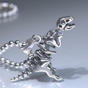 Silver-tyrannosaur-dinosaur-skeleton-Pendant-Stainless-Steel-Chain-Necklace-24-034