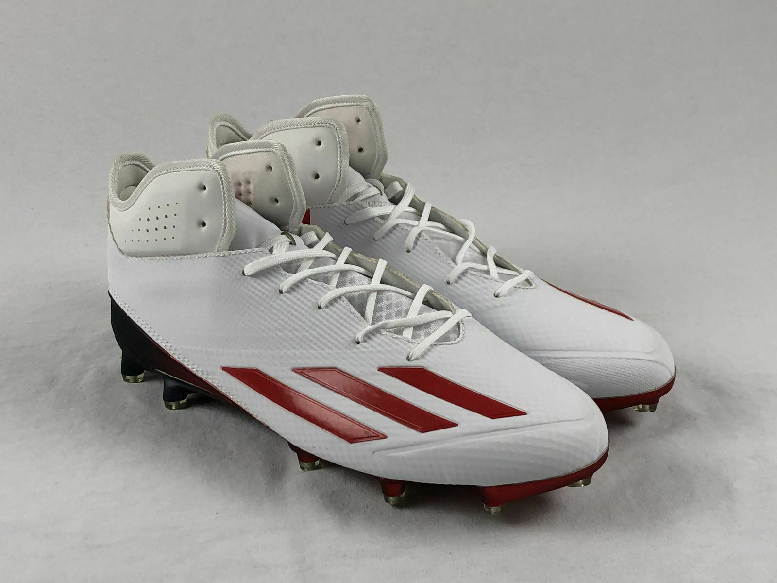 NEW adidas Adizero Mid - White Red Cleats (Men's 13)