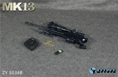 ZYTOYS ZY8034B 1//6 Ratio Model MK13 Sniper Rifle Black Gun Weapon Model Toy