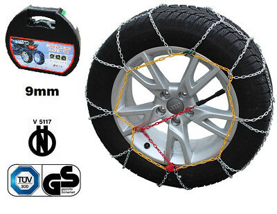 Catene da neve a rombo da 9mm per Peugeot 207 207 SW pneumatico 195//55r16 ***