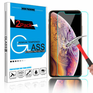 1-2x-Tempered-Glass-Screen-Protector-For-Apple-iPhone-XS-Max-X-XR-8-7-6-6S-Plus