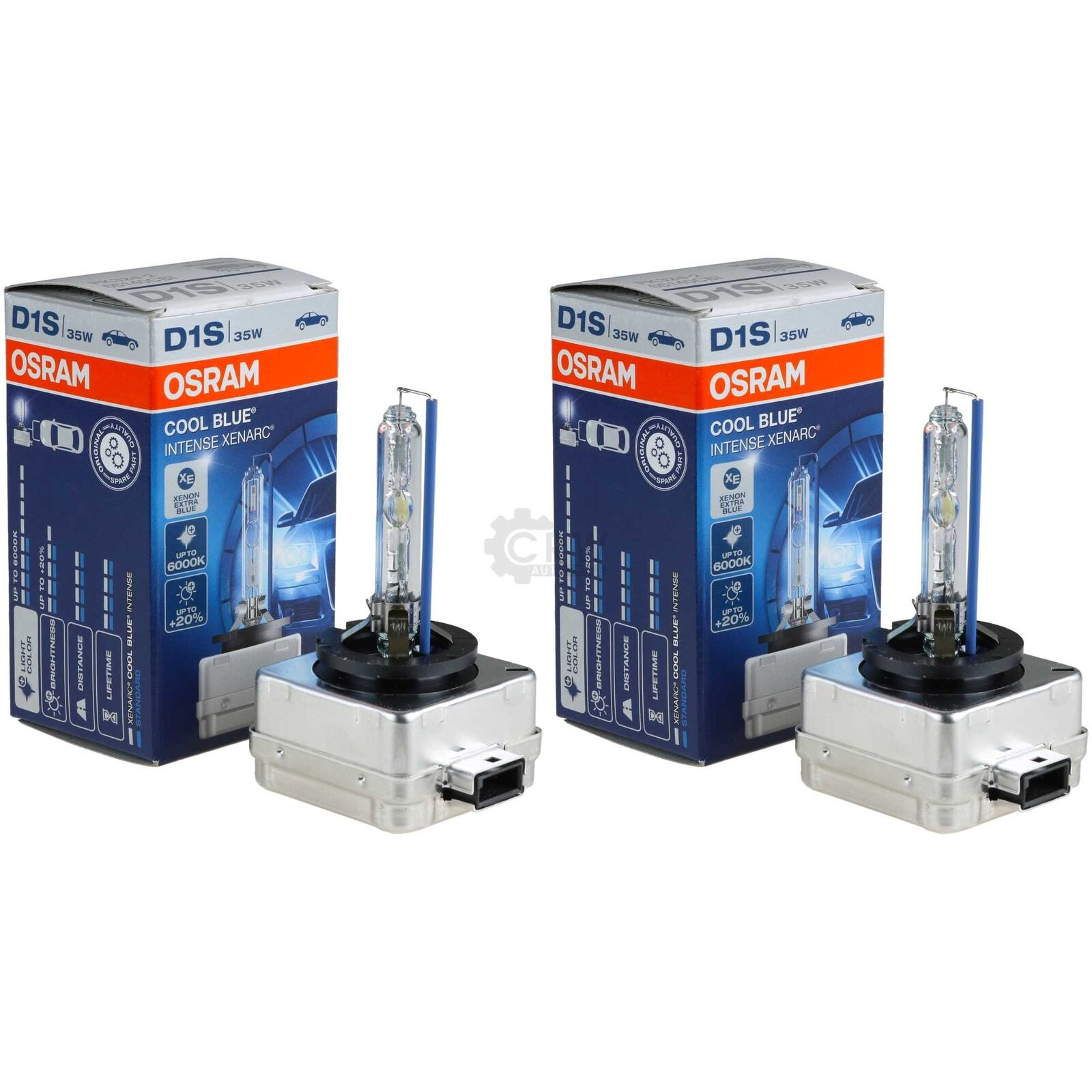 2x Osram D1s D2s D3s D4s W5w Night Breaker Unlimited Cool Blue Xenon Bulbs CLC