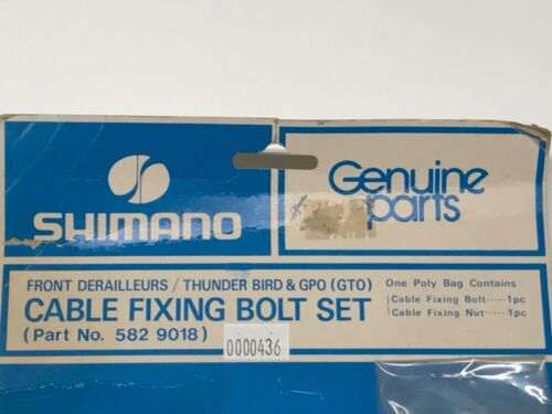 Shimano Cable Fixing Bolt Set for front derailleur NOS