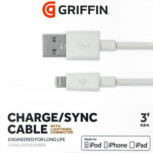 White Griffin 3 USB to Lightning Connector Cable