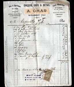 SAINT-FLORENT-sur-CHER-18-EPICERIE-amp-VINS-034-P-TAPIN-A-GRAS-Succ-034-en-1902