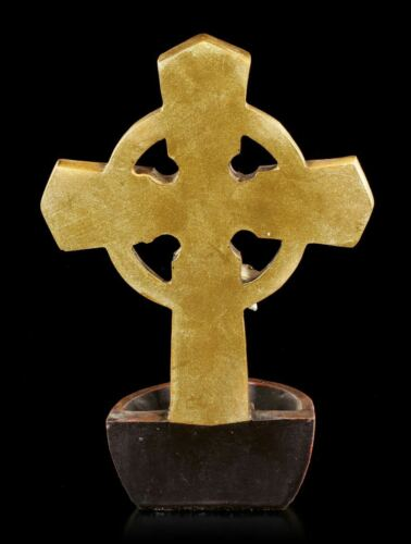 Kruzifix mit Jesus Weihwasserspender Heilige Figur Kreuz Deko