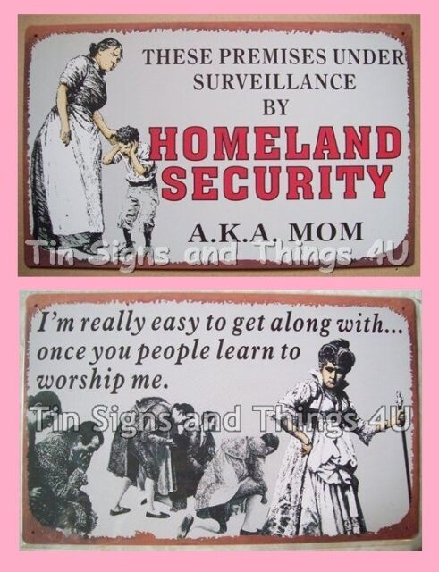 Mother's Day Tin Sign SET gift for Mom Grandmother Grandma funny wall art OHW-A