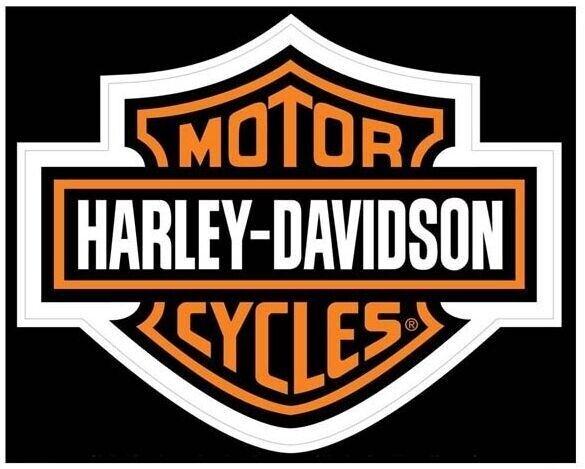 """2-3//4/"""" HARLEY DAVIDSON ROUND BAR AND SHIELD HOCKEY PUCK ~ INDOOR STICKER DECAL!"""
