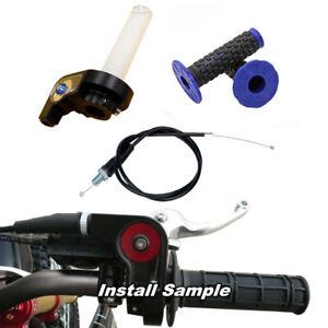 TWIST-THROTTLE-CABLE-FREE-Grips-Dirt-Pit-bike-atomik-pitpro-lei-tdr-orion-BLUE
