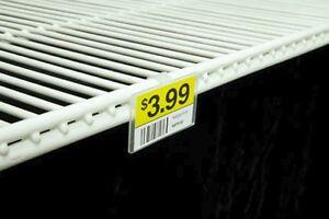 Label Holder For Wire Freezer Cooler Shelf Pack Of 50 Ebay