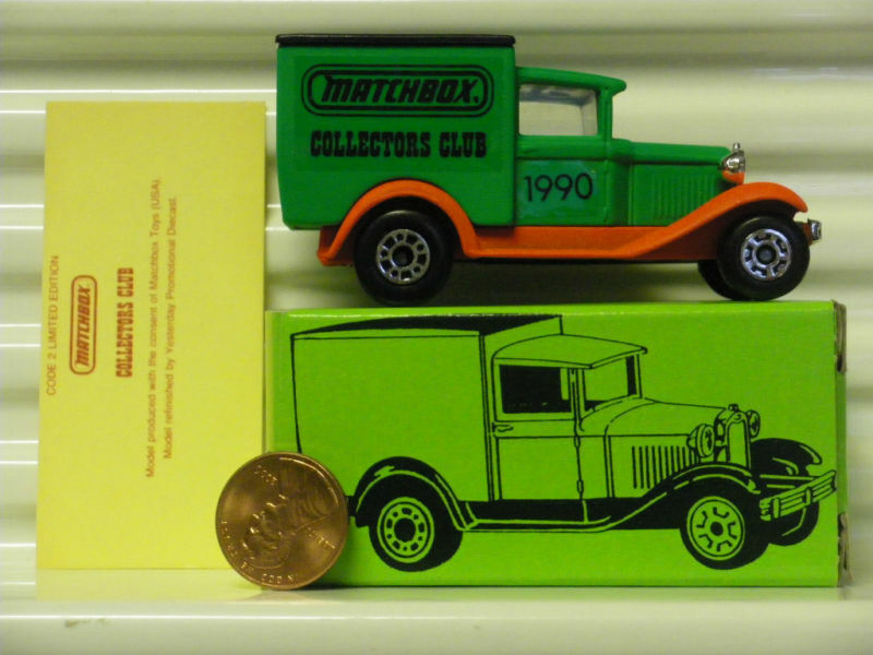MATCHBOX COLLECTORS CLUB 1990 MB38 Ford Ford Ford Van Without  SUPERFAST  on Base Mint Bxd 3f3dd9