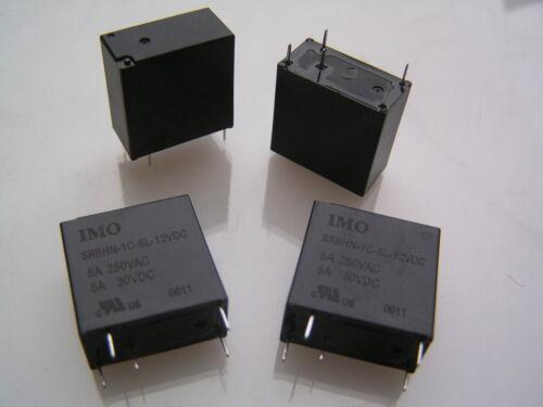 IMO srbhn-Bobina de relé de 1C-SL 12VDC 5A 250VAC 5A 30VDC SPNO 4 piezas I60C MBC008i