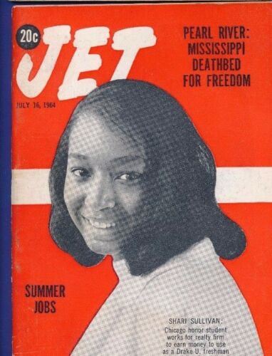 7//16//1964 JET MAGAZINE PEARL RIVER MISSISSIPPI DEATHBED FREEDOM SHARI SULLIVAN