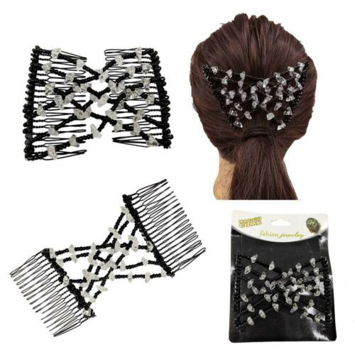 Magic Bead Easy Stretching Hair Combs Double Clips Hair Accessory for Women