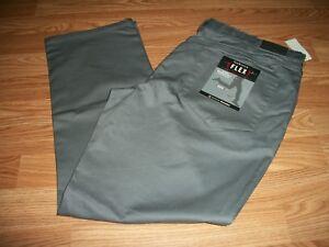 ace02625d118c Details about Van Heusen® Men's Slim Fit Flat Front Five Pocket Flex Pants  38x30 40x30 38x32